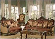 Glendora Leather Formal Living Room Set