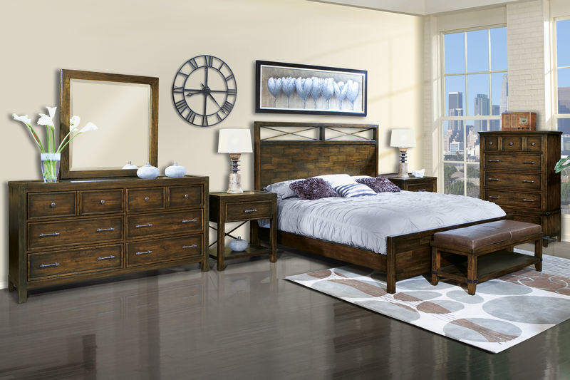 Harbor Springs Bedroom Set with Panel Bed