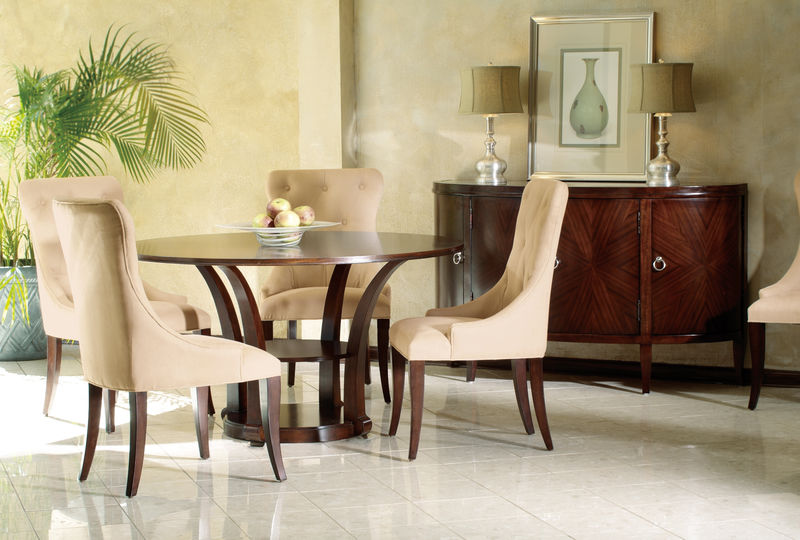 Metropolis Formal Dining Room Set with Round Table