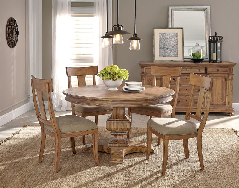 Wellington Hall Formal Dining Room Set with Round to Oval Table