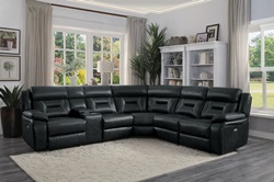 Amite Reclining Sectional in Gray