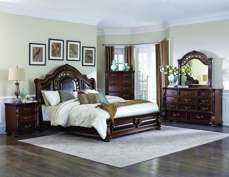 Augustine Court Bedroom Set with Sleigh Bed