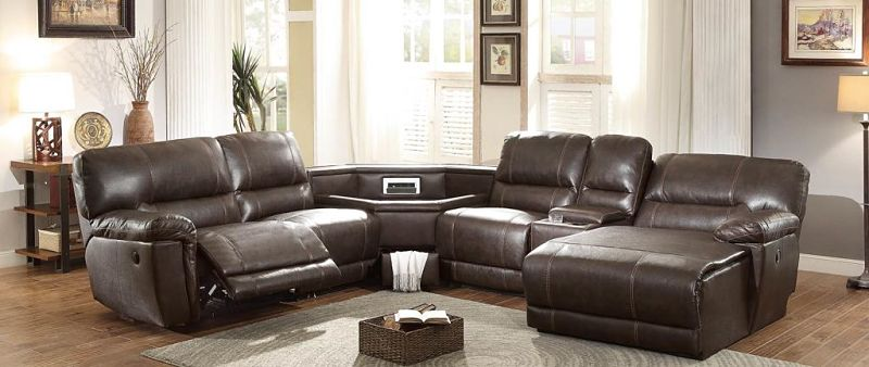 Blythe II Reclining Sectional with Storage Wedge and Power Motion