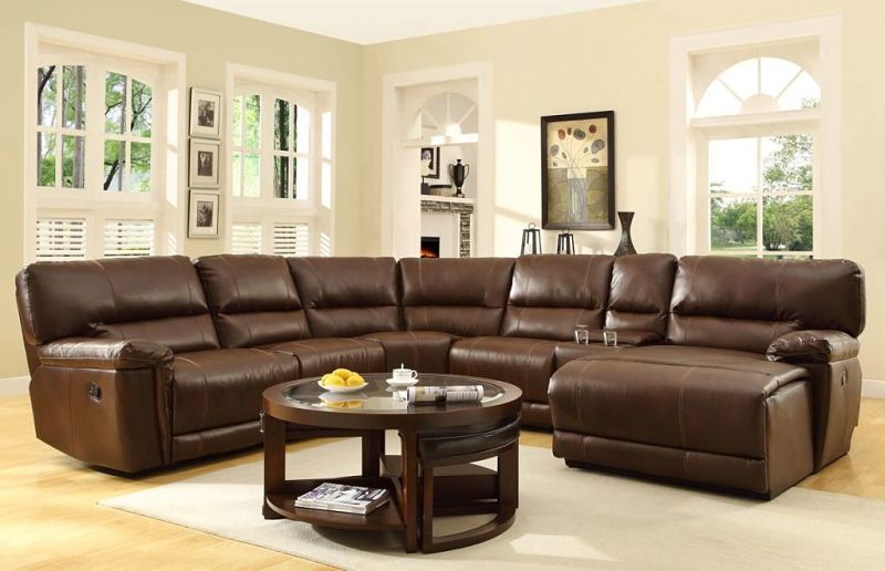 Blythe Reclining Leather Sectional