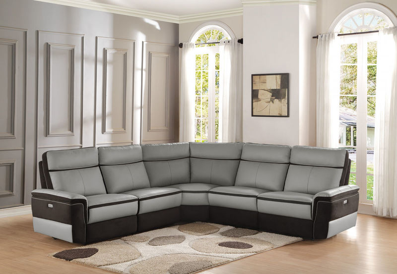 Laertes Reclining Leather Sectional