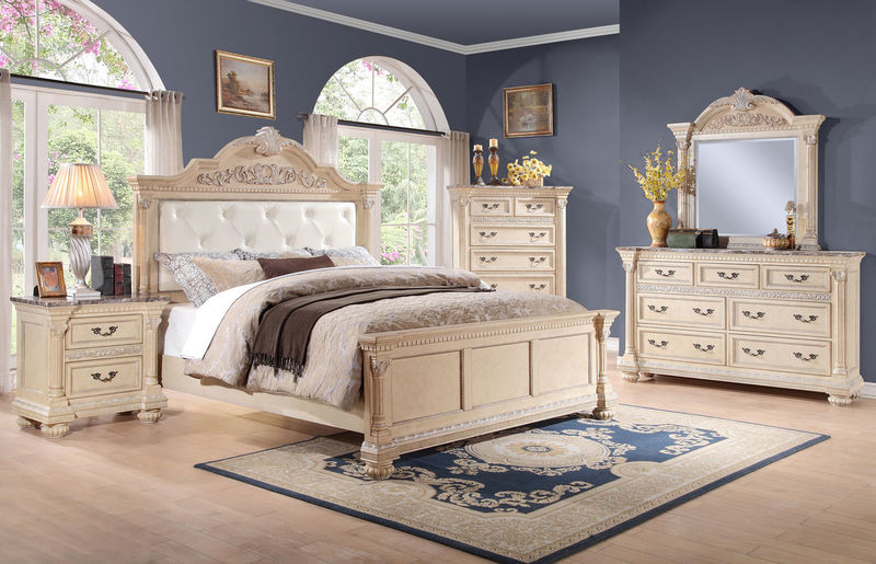 Russian Hill Bedroom Set in White