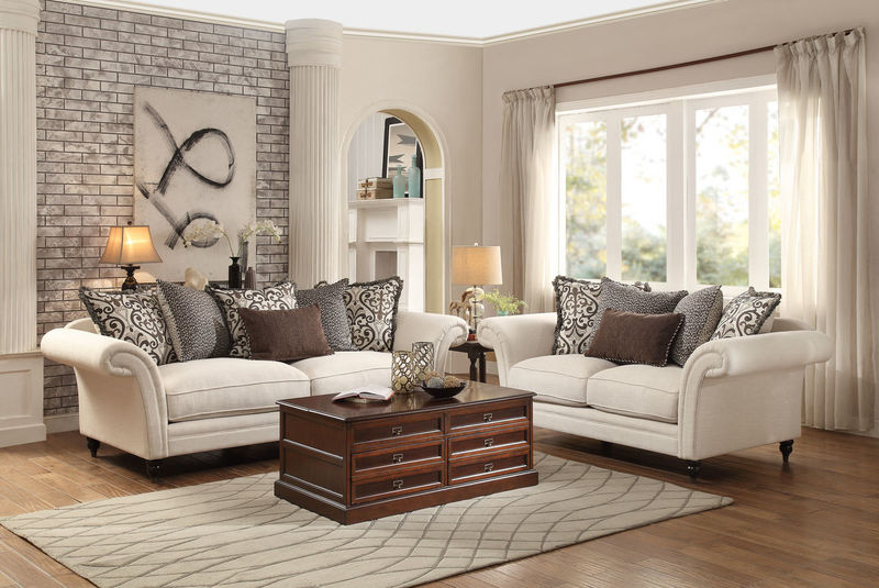 Cream Living Room Set | Baci Living Room