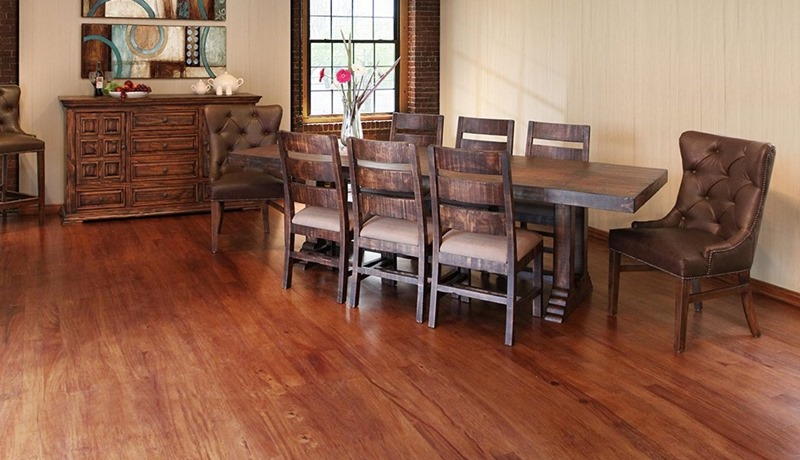 Terra 9 Piece Solid Wood Rustic Dining Room Set