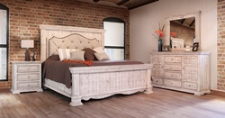 Bella 4 Piece Solid Wood Rustic Bedroom Set