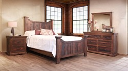 Madeira 4 Piece Solid Wood Rustic Bedroom Set