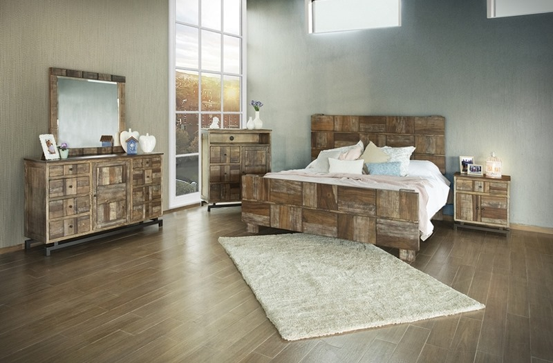 Queretaro 4 Piece Solid Wood Rustic Bedroom Set