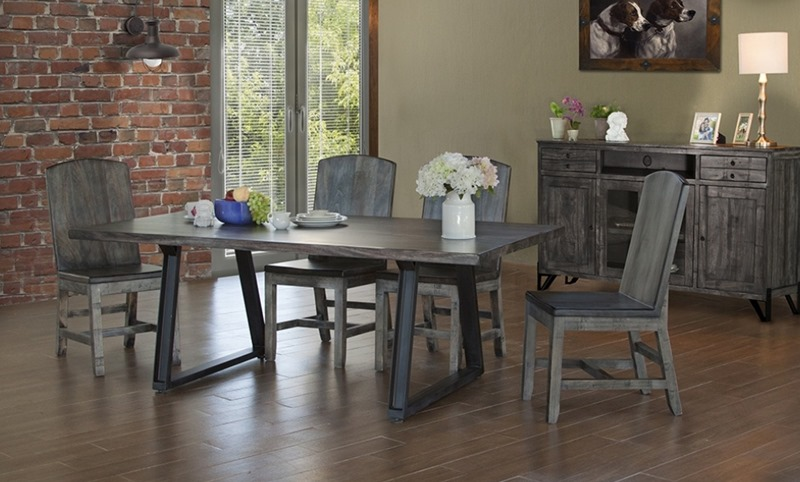 Moro 7 Piece Solid Wood Rustic Dining Room Set