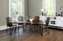 Taos 6 Piece Solid Wood Rustic Dining Room Set
