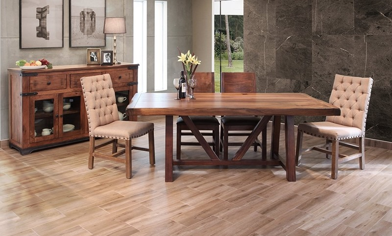 Parota 7 Piece Solid Wood Rustic Dining Room Set