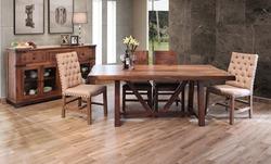 Parota 7 Piece Solid Wood Rustic Dining Room Set