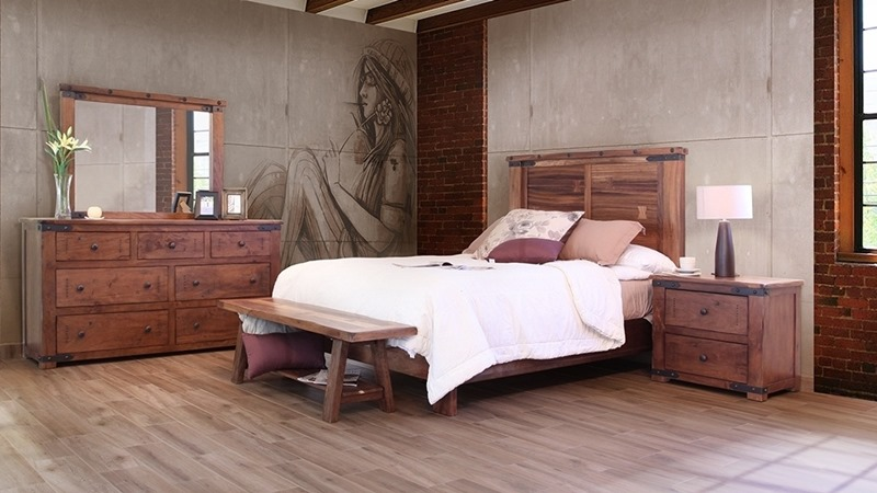 Parota II 4 Piece Solid Wood Rustic Bedroom Set