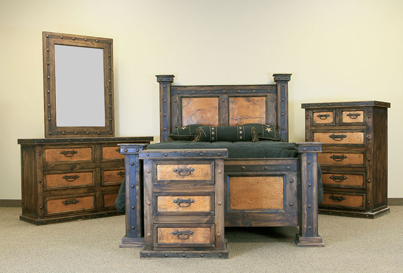 Finca Copper Rustic Bedroom Set