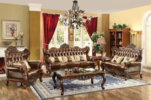 Lazio Formal Leather Living Room Set