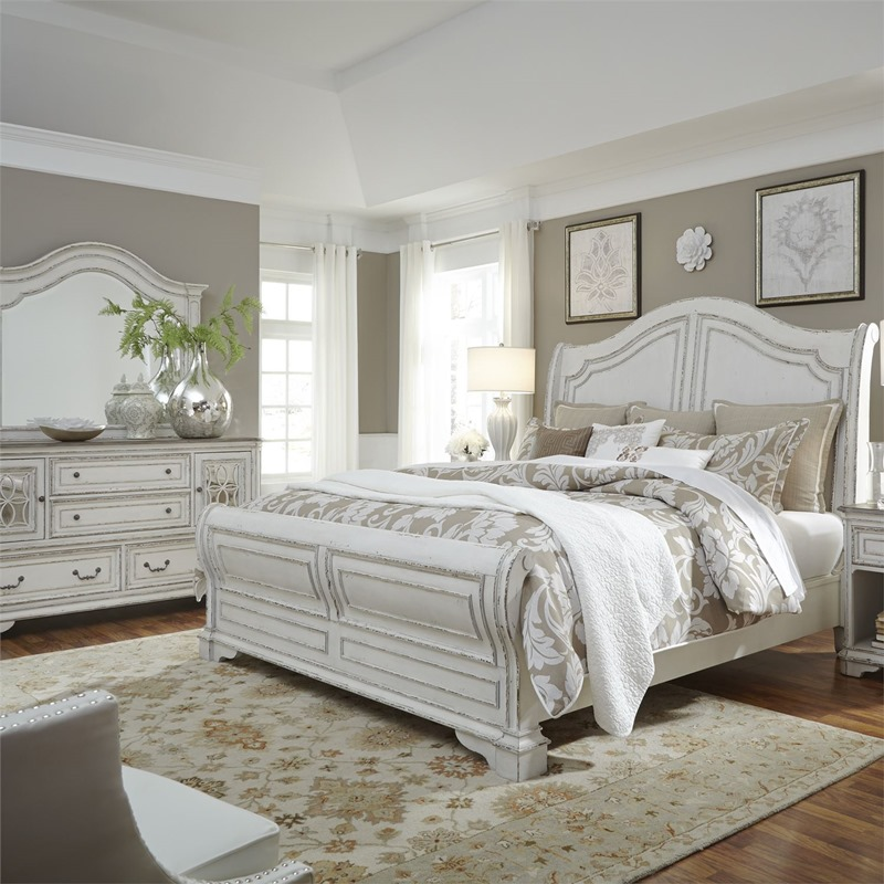 Magnolia Manor 4 Piece Queen Sleigh Bedroom Set