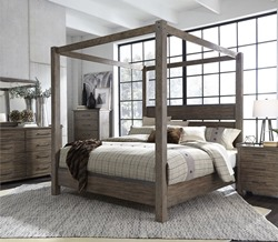 Sonoma Road 4 Piece Queen Canopy Bedroom Set