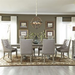 Grand Estates 7 Piece Formal Dining Room Set with Upholstered Chairs
