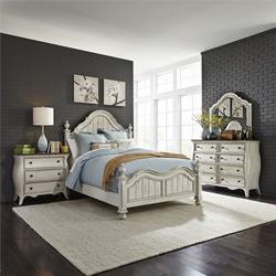 Parisian Marketplace 4 Piece Bedroom Set in Antique White