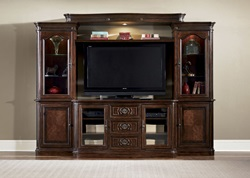 Andalusia Entertainment Center with TV Stand, 2 Piers, Light Bridge