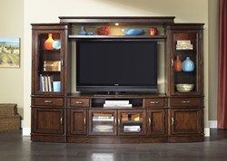 Hanover Entertainment Center with TV Stand, 2 Piers, Light Bridge