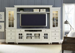 Harbor View Entertainment Center with TV Stand, 2 Piers, Bridge