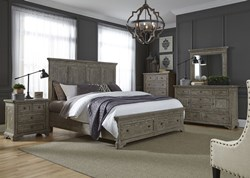 Highlands 4 Piece Queen Storage Bedroom Set