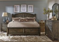 Modern Country 4 Piece Queen Storage Bedroom Set