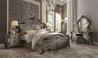 Lucca II Bedroom Set in Antique Platinum