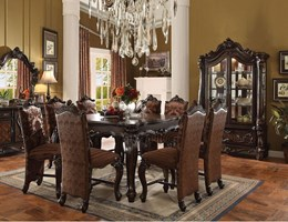Lucca Counter Height Dining Room Set in Cherry