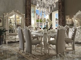 Lucca Counter Height Dining Room Set in White