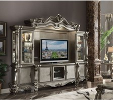 Lucca Entertainment Center in Platinum