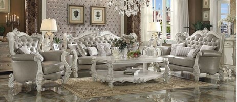 Lucca Formal Living Room Set in Gray