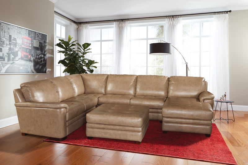Alpine U-Shaped Leather Sectional