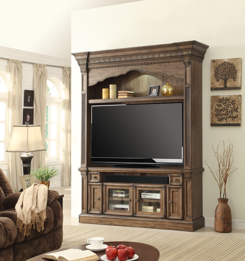 Aria Entertainment Center with 67 Inch Console