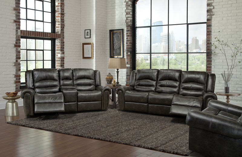 Gershwin Reclining Living Room Set in Ember