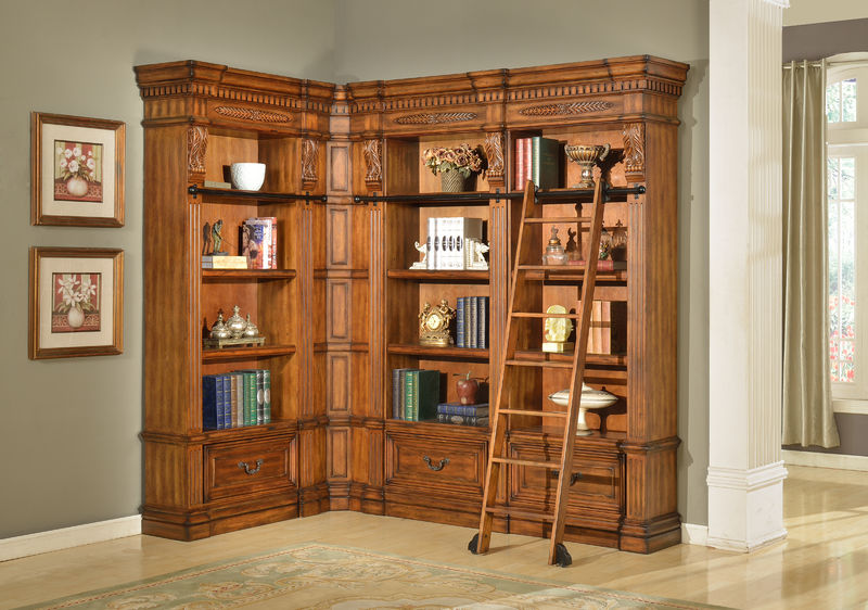 Granada Museum Corner Bookcase - Medium
