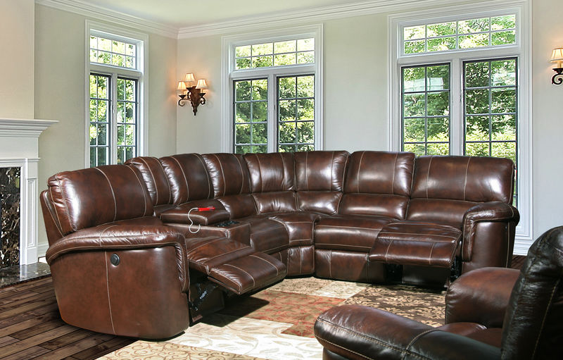 Hitchcock Reclining Leather Sectional