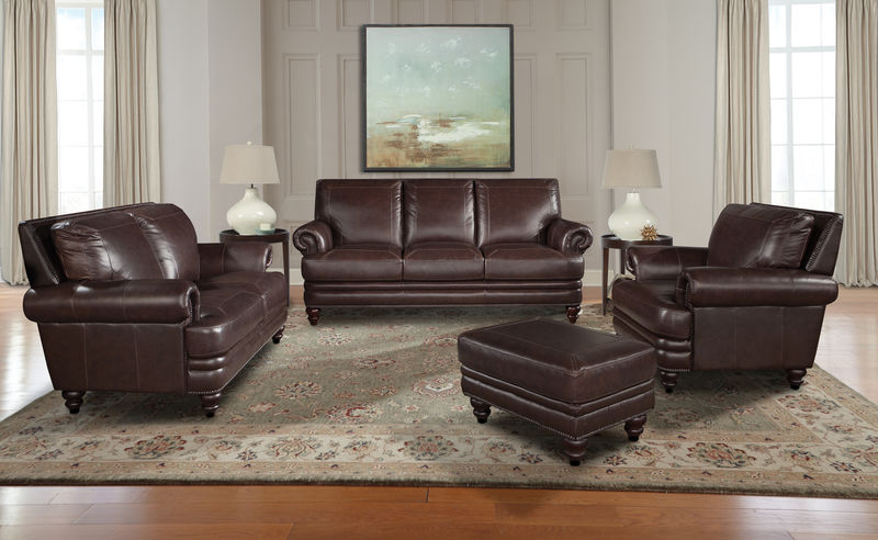 Hunter Leather Living Room Set