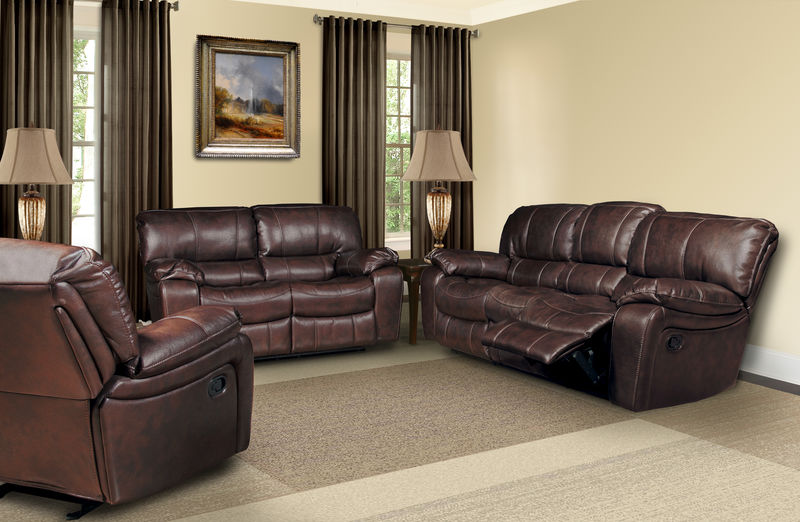 Jupiter Reclining Living Room Set in Russet