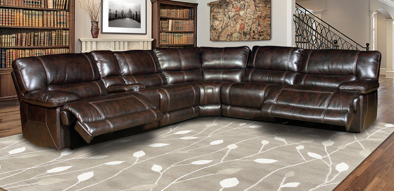 Pegasus Reclining Sectional in Nutmeg