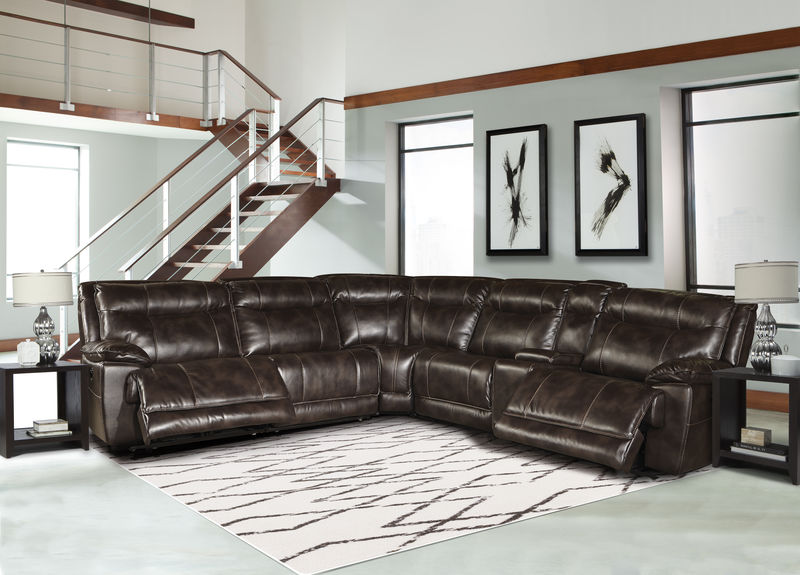 Phoenix Reclining Sectional in Truffle