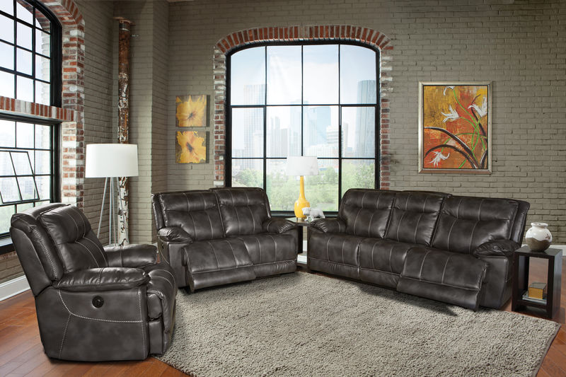 Phoenix Reclining Living Room Set in Flint