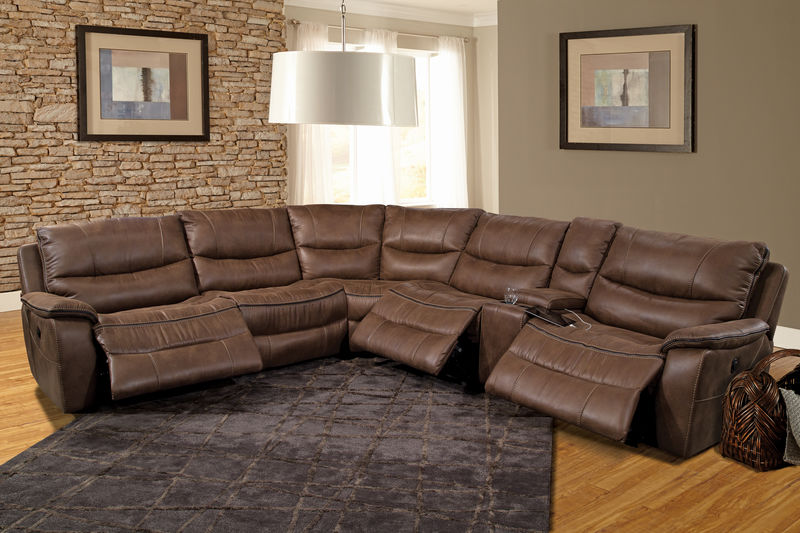 Remus Reclining Sectional in Stone