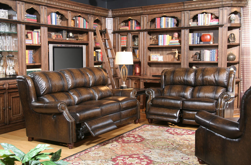Twain Reclining Leather Living Room Set