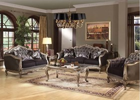 Parma Formal Living Room Set in Platinum