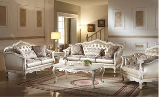 Parma Formal Living Room Set in White
